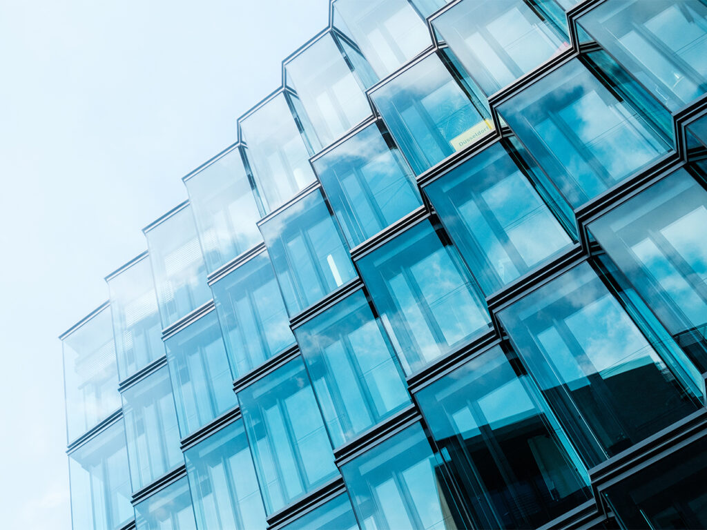 modern  architecture, office building glass facade